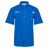 Columbia Bonehead Royal Short Sleeve Shirt-UTA Mavericks stacked