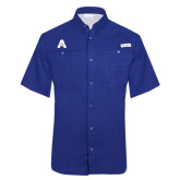 Columbia Tamiami Performance Royal Short Sleeve Shirt-A with Star