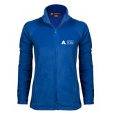 Ladies Fleece Full Zip Royal Jacket-Secondary Mark