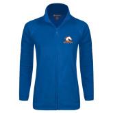 Ladies Fleece Full Zip Royal Jacket-Mavericks