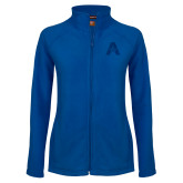 Ladies Fleece Full Zip Royal Jacket-A with Star