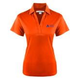 Ladies Orange Performance Fine Jacquard Polo-Secondary Mark