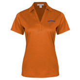 Ladies Orange Performance Fine Jacquard Polo-UTA Mavericks stacked