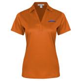 Ladies Orange Performance Fine Jacquard Polo-UTA Mavericks stacked