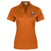 Ladies Orange Performance Fine Jacquard Polo-Maverick Club
