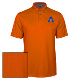 Orange Performance Fine Jacquard Polo-A with Star