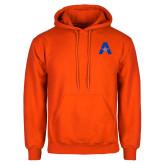 Orange Fleece Hoodie-A with Star