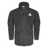 Columbia Full Zip Charcoal Fleece Jacket-A with Star