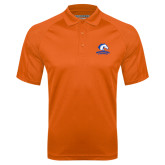 Orange Textured Saddle Shoulder Polo-Mavericks