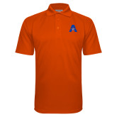 Orange Textured Saddle Shoulder Polo-A with Star