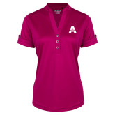 Ladies Ogio Deep Berry Fashion Henley-A with Star