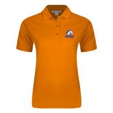 Ladies Easycare Orange Pique Polo-Mavericks