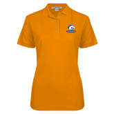 Ladies Easycare Orange Pique Polo-Primary Mark