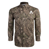 Camo Long Sleeve Performance Fishing Shirt-A with Star