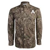 Camo Long Sleeve Performance Fishing Shirt-A with Star