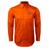 Orange Twill Button Down Long Sleeve-Secondary Mark