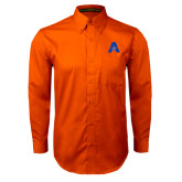Orange Twill Button Down Long Sleeve-A with Star