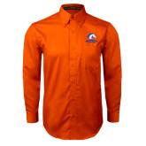 Orange Twill Button Down Long Sleeve-Mavericks