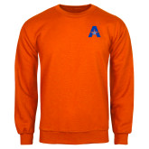 Orange Fleece Crew-A with Star
