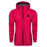 Ladies Dark Fuchsia Waterproof Jacket-A with Star