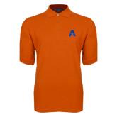 Orange Easycare Pique Polo-A with Star