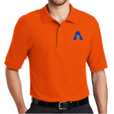 Orange Easycare Pique Polo-A with Star