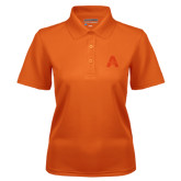 Ladies Orange Dry Mesh Polo-A with Star