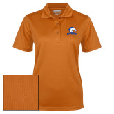 Ladies Orange Dry Mesh Polo-Primary Mark