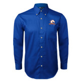 Royal Twill Button Down Long Sleeve-Mavericks