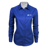 Ladies Royal Twill Button Down Long Sleeve-Secondary Mark