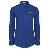 Ladies Royal Twill Button Down Long Sleeve-UTA Mavericks stacked