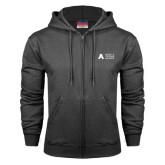 Charcoal Fleece Full Zip Hood-Secondary Mark
