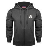 Charcoal Fleece Full Zip Hood-A with Star