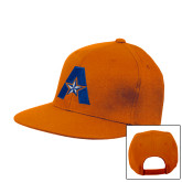Orange Flat Bill Snapback Hat-A with Star