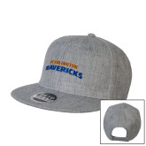 Heather Grey Wool Blend Flat Bill Snapback Hat-UTA Mavericks stacked