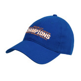Royal Twill Unstructured Low Profile Hat-2016-17 Regular Season Champions Mens Basketball