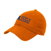 Orange Twill Unstructured Low Profile Hat-University of Texas Arlington