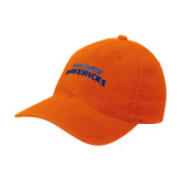 Orange OttoFlex Unstructured Low Profile Hat-UTA Mavericks stacked