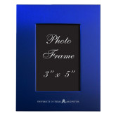 Royal Brushed Aluminum 3 x 5 Photo Frame-A with Star Engraved