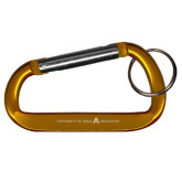 Orange Carabiner with Split Ring-A with Star Engraved