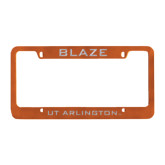 Metal Orange License Plate Frame-Blaze