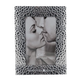 Silver Textured 4 x 6 Photo Frame-A with Star Engraved