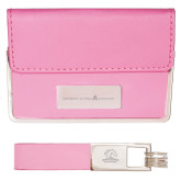 Business Card Case and Key Ring Set Pink-University of Texas Arlington