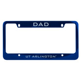 Dad Metal Blue License Plate Frame-Dad