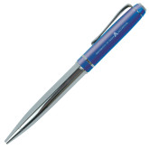 Allegro Blue Twist Pen-A with Star Engraved