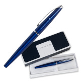 Cross ATX Blue Lacquer Roller Ball Pen-A with Star Engraved