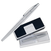Cross ATX Pure Chrome Roller Ball Pen-A with Star Engraved
