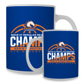Full Color White Mug 15oz-2016-17 Regular Season Champs - Mens Basketball Half Ball