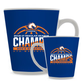 12oz Ceramic Latte Mug-2016-17 Regular Season Champs - Mens Basketball Half Ball