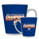 12oz Ceramic Latte Mug-2016-17 Regular Season Champions - Mens Basketball Stencil